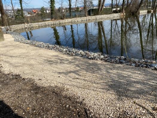 200316 Weiher Vorplatz Uferweg erneuert